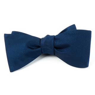 grosgrain solid navy bow ties