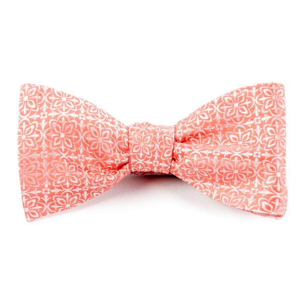 Coral Opulent Bow Tie
