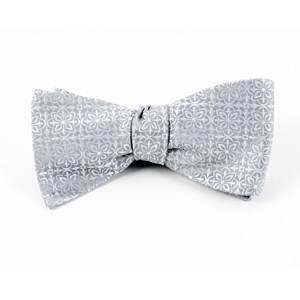 opulent silver bow ties