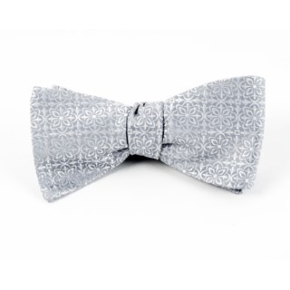 Opulent Silver Bow Tie