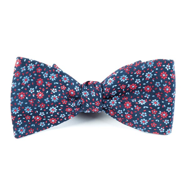 Navy Milligan Flowers Bow Tie