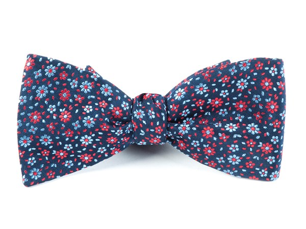 Milligan Flowers Navy Bow Tie