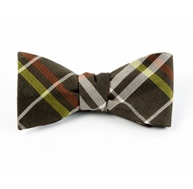 Army Green Barnegat Plaid bow ties