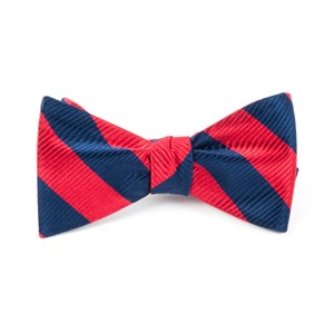 classic twill red bow ties