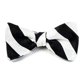 White Classic Twill bow ties