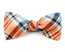 Bow Ties - DANBURY PLAID - TANGERINE