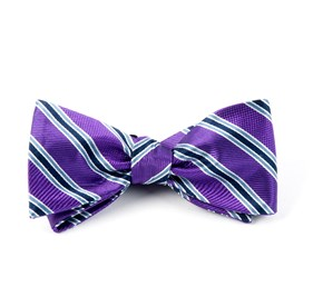Bella Stripe Plum Bow Ties
