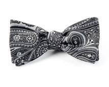 Bow Ties - EMPIRE PAISLEY - CHARCOAL