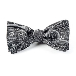 empire paisley charcoal bow ties