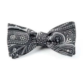 Empire Paisley Charcoal Bow Tie