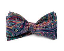 Bow Ties - EMPIRE PAISLEY - FUCHSIA