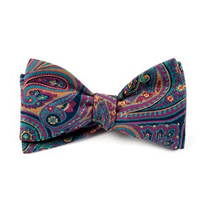 empire paisley fuchsia bow ties