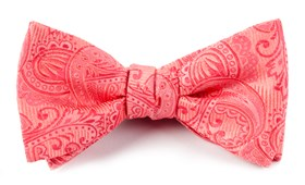 Bow Ties - Twill Paisley - Coral