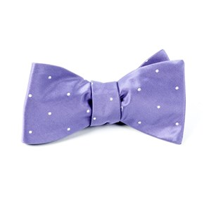 satin dot lavender bow ties