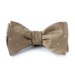 satin dot champagne bow ties