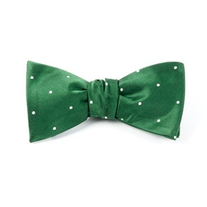 satin dot hunter bow ties