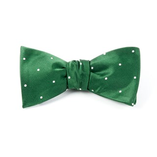 Satin Dot Hunter Bow Tie