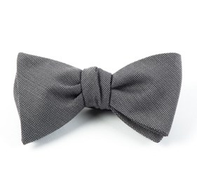 Downtown Solid Grey Bow Ties