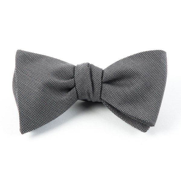 Grey Downtown Solid Bow Tie
