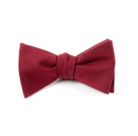 Red Downtown Solid bow ties