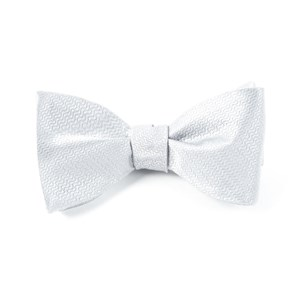 static solid silver bow ties