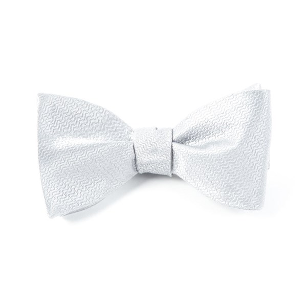 Silver Static Solid Bow Tie