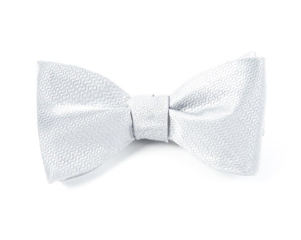 Static Solid Silver Bow Tie