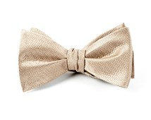 BOW TIES - STATIC SOLID - TAN