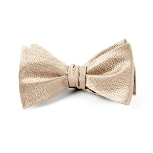 static solid tan bow ties