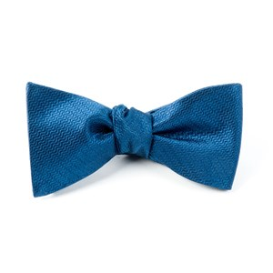 static solid navy bow ties