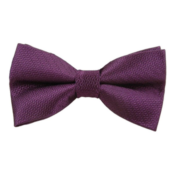 Plum Static Solid Bow Tie