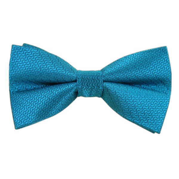 Teal Static Solid Bow Tie
