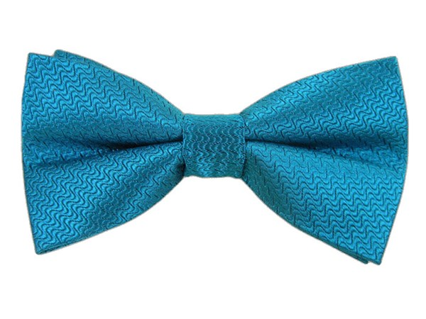 Static Solid Teal Bow Tie