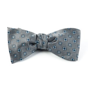 juneberry grey bow ties