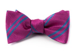 Bow Ties - DOUBLE STRIPE - BRIGHT PINK