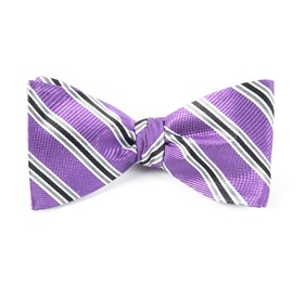 Bella Stripe Purple Orchid Bow Ties