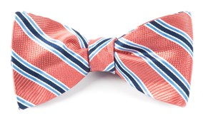 Bow Ties - BELLA STRIPE - CORAL
