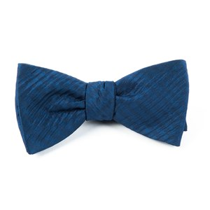 silk seersucker solid navy bow ties