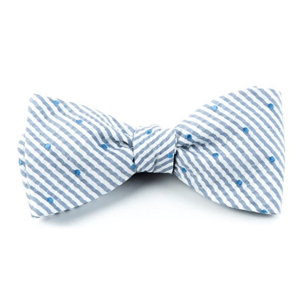Blue French Kiss Bow Tie