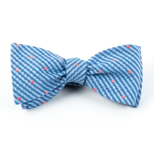 Light Blue French Kiss Bow Tie
