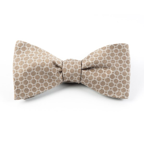 Champagne Chain Reaction Bow Tie