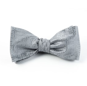Silver Covert Checks bow ties