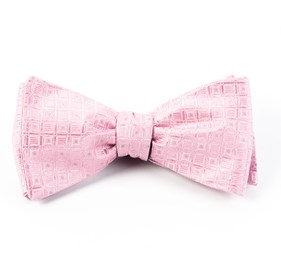 Baby Pink Covert Checks bow ties