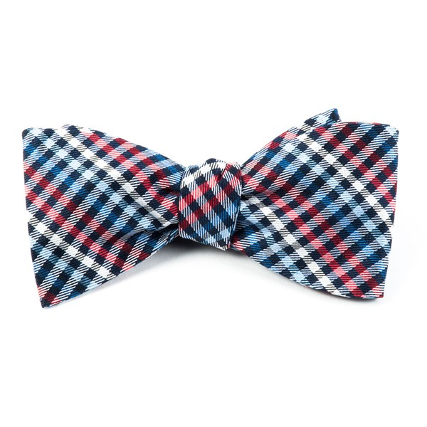 Red Daydream Plaid Bow Tie