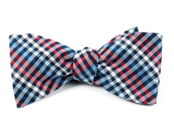 Daydream Plaid Red Bow Tie