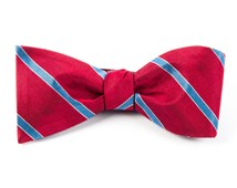 Bow Ties - PIPE DREAM STRIPE - RED