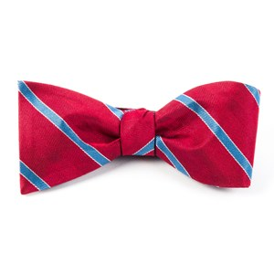 pipe dream stripe red bow ties