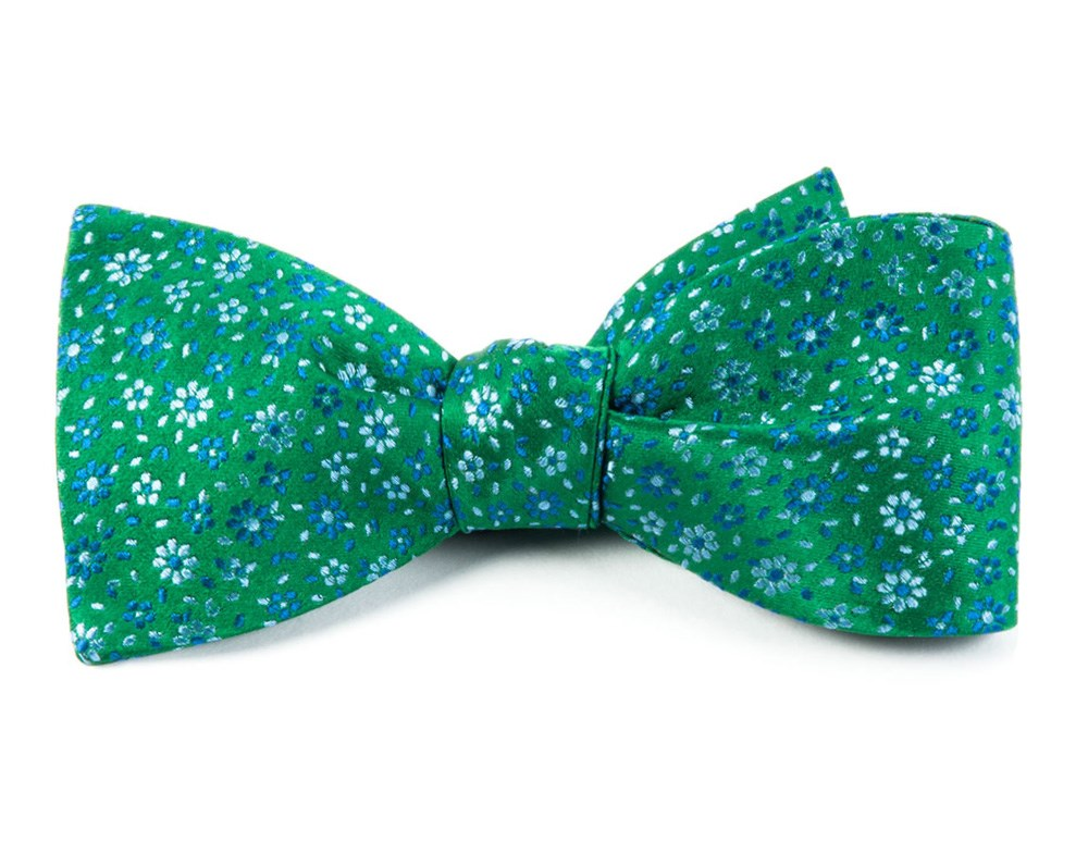 76e09dbcd4bd Emerald Green Milligan Flowers Bow Tie | Men's Bow Ties | The Tie Bar