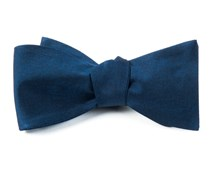 BOW TIES - MELANGE TWIST SOLID - NAVY