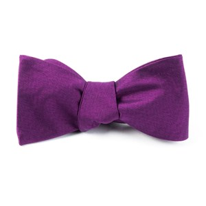melange twist solid azalea bow ties